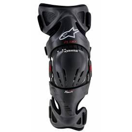 Chrániče kolen FLUID TECH CARBON 2019, ALPINESTARS (černá/červená, pravé koleno)