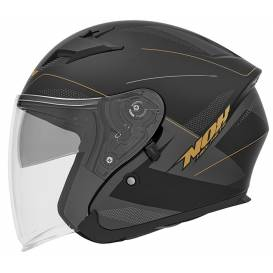 Helmet N127 FUSION, NOX (black matt / gray / gold)