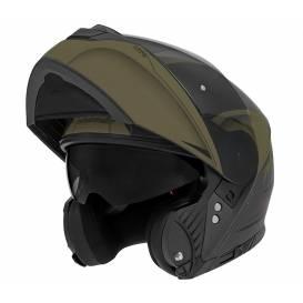 Prilba N965 EKO, NOX (čierna matná / zelená khaki)