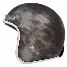 Helmet N242, NOX (matt silver / brushed metal effect)