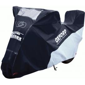 Plachta na motorku Rainex, OXFORD (černá/stříbrná)