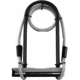 Zámek U profil Shackle 12 DUO, OXFORD (šedý/černý, 245 x 190 mm, průměr čepu 12 mm)