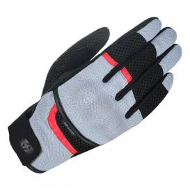 Rukavice BRISBANE AIR, OXFORD (šedé/černé/červené)