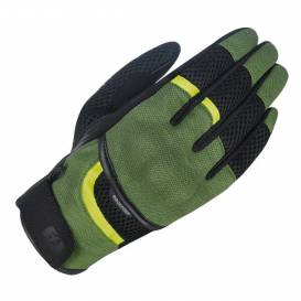 Rukavice BRISBANE AIR, OXFORD (zelené/černé/žluté fluo)