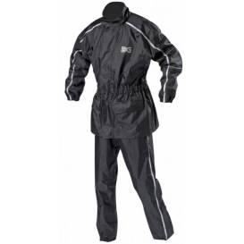 Bunda a nohavice Security pack, NOX - Francúzsko (čierna / sivá reflexné)