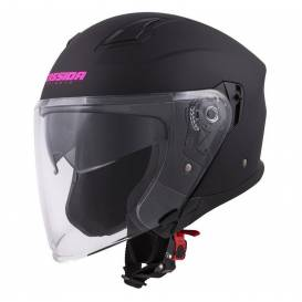 Prilba Jet Tech, Cassidy (čierna matná / ružová loga)