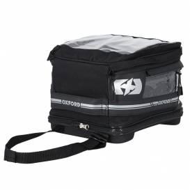 Tankbag na motocykl F1 QR, OXFORD (černý, s rychloupínacím systémem na víčka nádrže, objem 18 l)