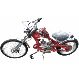 Motorcycle Sunway Chopper Red 80cc 2t
