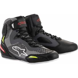 FASTER-3 RIDEKNIT shoes, ALPINESTARS (black / gray / red / yellow fluo)