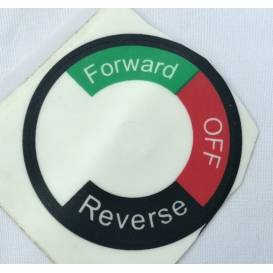 Sticker under the forward / reverse switch for electric mini ATV