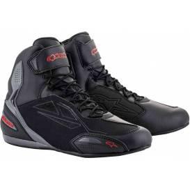 Topánky FASTER-3 DRYSTAR, ALPINESTARS (čierne / sivé / červené)