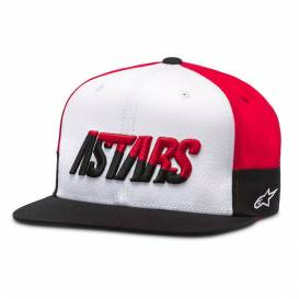 FASTER HAT cap, ALPINESTARS (white / black / red)