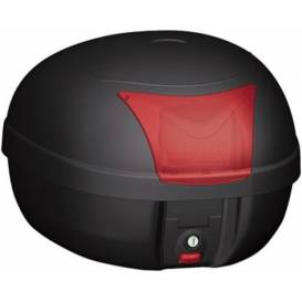 MONOLOCK TopCase - 28l, KAPPA (black, red reflector, incl. Plate K628)
