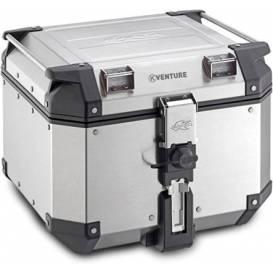 MONOKEY TopCase K-VENTURE - 42l, KAPPA (stříbrný, hliník, 40,9x32,3x45,4 cm)