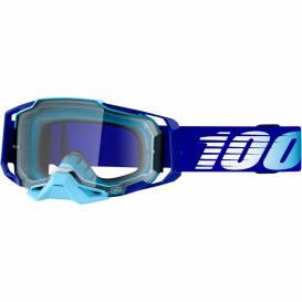 Okuliare ARMEGA Royal, 100% (číre plexi s čapmi pre sľudy)