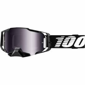 Brýle ARMEGA Black, 100% - USA (stříbrné chrom plexi s čepy pro slídy)
