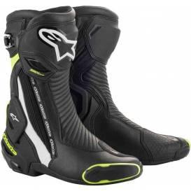 Topánky SMX PLUS 2020, ALPINESTARS (čierna / biela / žltá fluo)