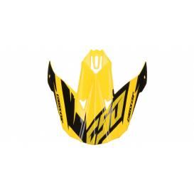 Kšilt pro přilby Cross Cup Two, CASSIDA (žlutý fluo/černý/šedý)