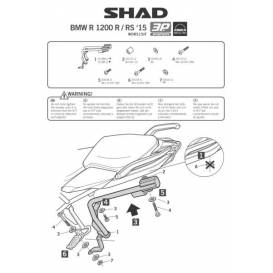 Montážní sada boxů SHAD 3P pro BMW R1200