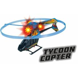 TYCOON firing helicopter with flashing diodes