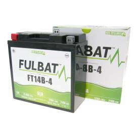 Batérie 12V, FT14B-4 SLA, 12,6Ah, 210A, bezúdržbová MF AGM 184x124x170, FULBAT (aktivovaná vo výrobe)