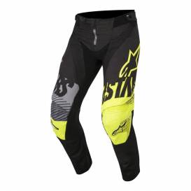 Pants Racer Screamer, ALPINESTARS - Italy, children (black / yellow fluo / gray)