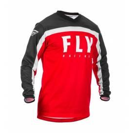Dres F-16 2020, FLY RACING - USA detská (červená / čierna / biela)
