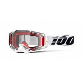 Brýle ARMEGA Lightsaber, 100% - USA (čiré plexi s čepy pro slídy)