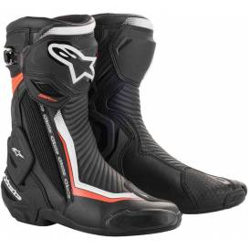 SMX PLUS 2 2021 shoes, ALPINESTARS (black / white / red fluo)