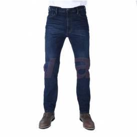 ZKRÁCENÉ kalhoty Original Approved Jeans volný střih, OXFORD, pánské (sepraná modrá)