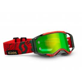 PROSPECT LIMITED SIX DAYS 19 PORTUGAL goggles, SCOTT (red / green, green chrome plexiglass with mica pins)