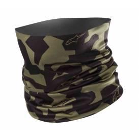 Nákrčník CAMO NECK TUBE, ALPINESTARS (vojenská zelená / čierna)