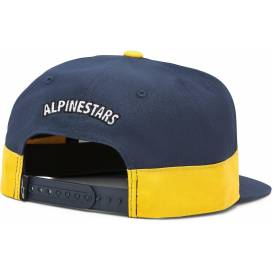 FASTER HAT cap, ALPINESTARS (white / dark blue / gold)