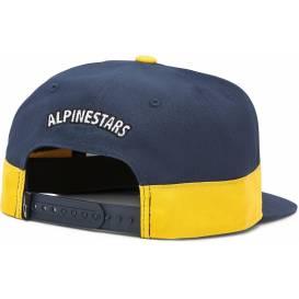 Šiltovka FASTER HAT, ALPINESTARS (biela / tmavo modrá / zlatá)