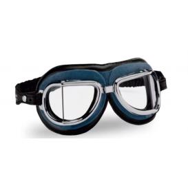 Vintage glasses 513, CLIMAX (blue / chrome frame / clear lenses)