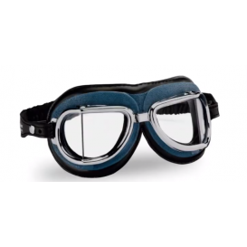 Vintage okuliare 513, CLIMAX (modré / chrómový rámik / číre sklá)