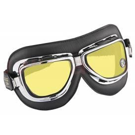 Vintage brýle 510, CLIMAX (černé/chrom, skla žlutá)