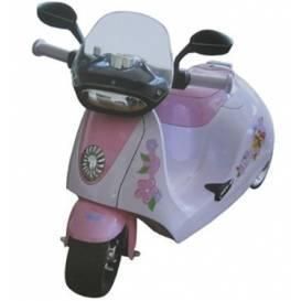 Krásná zelená dětská motorka