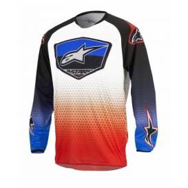 Dres Racer Supermatic, ALPINESTARS  - červená/modrá/bílá