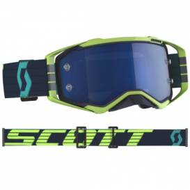 PROSPECT, SCOTT goggles (blue / yellow, blue chrome plexiglass with mica pins)