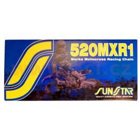 Reťaz 520MXR1, SUNSTAR (bezkroužek, farba zlatá, 106 článkov)