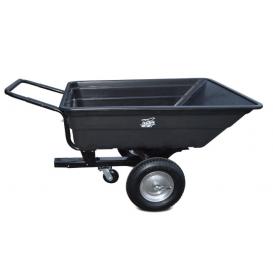 Vozík pre štvorkolky SHARK GARDEN 150 s adaptérom na ťažné - čierny