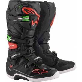 Topánky TECH 7 2021, ALPINESTARS (čierna / červená / zelená)