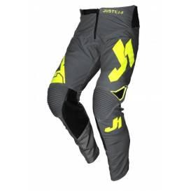Moto kalhoty JUST1 J-FLEX ARIA tmavě šedé/neonově žluté