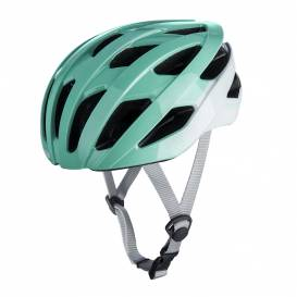 Cycling helmet RAVEN ROAD, OXFORD (turquoise / white)