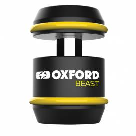 Motorcycle lock BEAST LOCK, OXFORD (black / yellow)