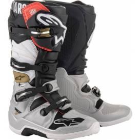 Topánky TECH 7 2021, ALPINESTARS (čierna / strieborná / biela / zlatá)