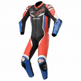 One-piece overalls GP PRO 3 HONDA collection 2021, TECH-AIR compatible, ALPINESTARS (black / red / blue / white)