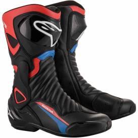 Shoes S-MX 6 HONDA collection 2021, ALPINESTARS (black / red / blue / white)