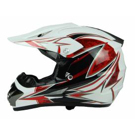Junior cross helmet XTR 125 - white